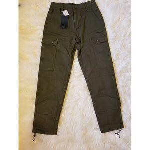 Zara Olive Cargo Pants